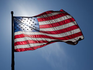 Backlit US Flag
